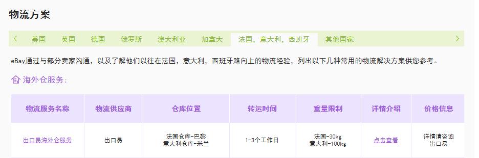 eBay推荐出口易海外仓